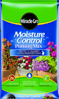Miracle-Gro Moisture Control 76152300 Potting Mix, 2 cu-ft, Bag, Dark Brown,