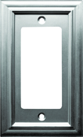 Amerelle 94RN Rectangular Wallplate, 1-Gang, Metal