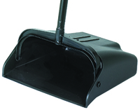 Continental Commercial 912BK Lobby Dustpan, 36-3/4 in L, Plastic, Black