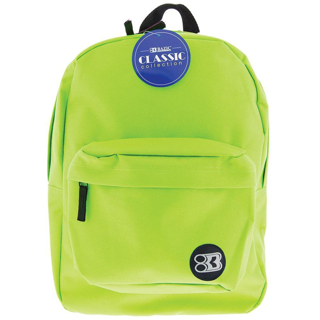 "BAZIC 17"" LIME GREEN CL BACKPACK"
