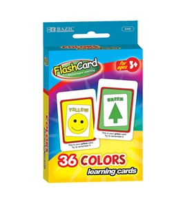 BAZIC PRESCHOOL FLASH CARD 36PK