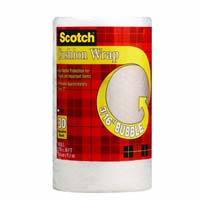 Scotch 7929 Cushion Wrap, 30 ft L, Clear, Nylon/Polyethylene
