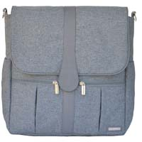 BACKPACK DIAPER BAG GRAY HEATHER