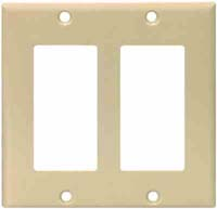 CW WALLPLATE DECOR 2G #2152V