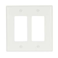 CW WALLPLATE 2G DECORATOR POLY