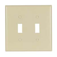 CW WALLPLATE 2G TOGGLE POLY IVO