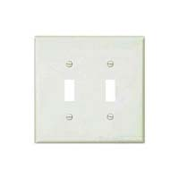 CW WALLPLATE 2G TOGGLE POLY WHI