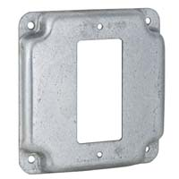 "RACO 4"" SQUARE 1G GFI COVER"