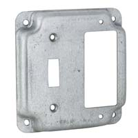 "RACO 4"" SQ COVER TOGGLE/DECORA"