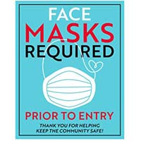 FACE MASK REQUIRED FOR ENTRY