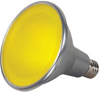 BULB LED 40' YELLOW 15PAR38 120V