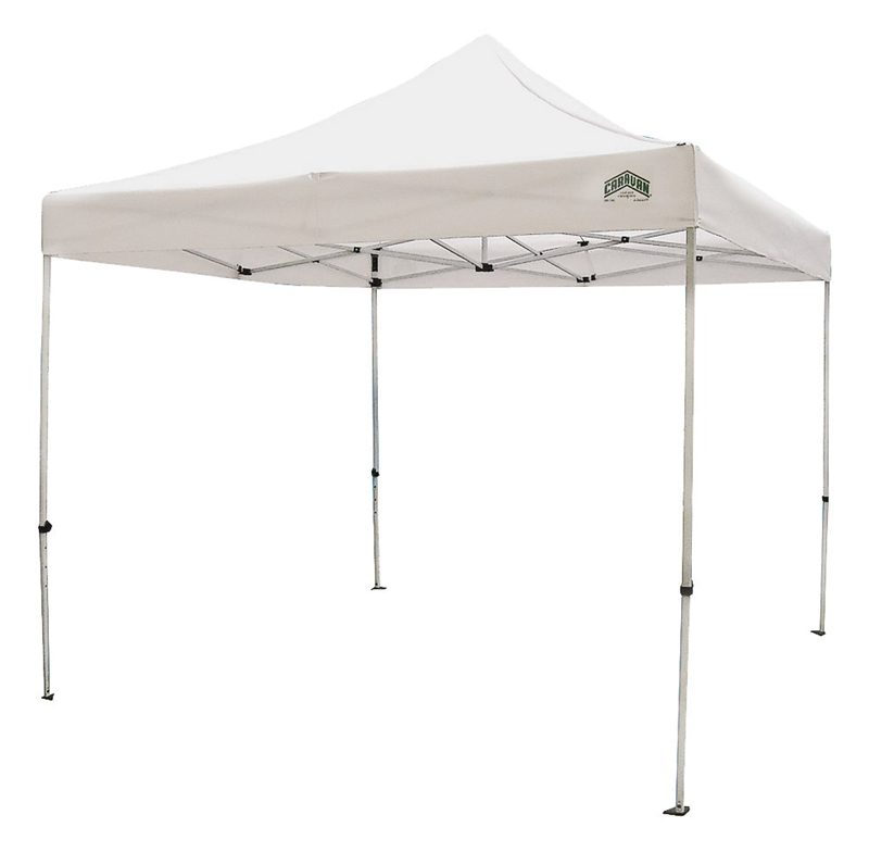 Seasonal Trends Light Duty Canopy, 10 Ft L X 10 Ft W, Polyester, White
