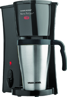 Black+Decker DCM18S Personal Coffee Maker, 2 Cups Capacity, 120 V, 800 W