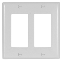 Arrow Hart 2152 Series 2152W-BOX Standard-Size Wallplate, 2-Gang, Thermoset,