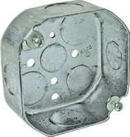 RACO 127 Octagon Box, 1-Gang, Steel, Gray
