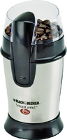 Black+Decker CBG100 Electric Coffee Grinder, Stainless Steel, Silver