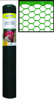 TENAX 72120942 Poultry Fence, 3/4 x 3/4 in Mesh, 25 ft L, 2 ft W, Plastic