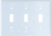 Eaton Wiring Devices 2141W-BOX Standard-Size Wallplate, 3-Gang, Thermoset,