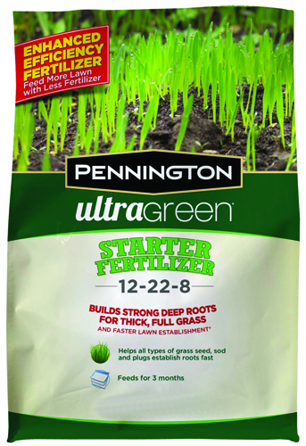 Pennington Ultragreen 100519554 Lawn Starter Fertilizer, 2.5 lb Bag